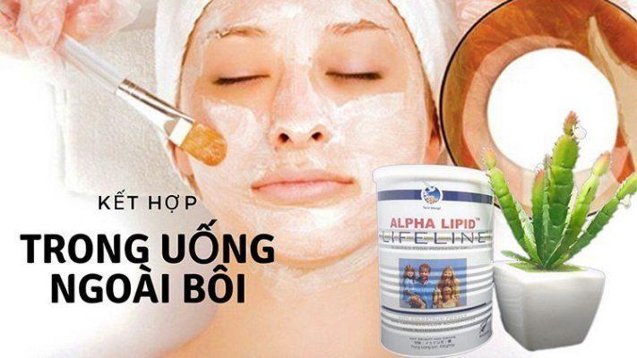 Lam dep bang sua non Alpha Lipid