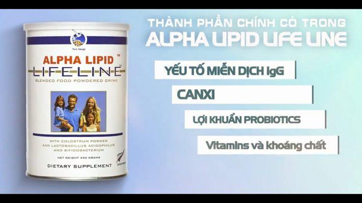 Sua non Alpha Lipid Lifeline la gi
