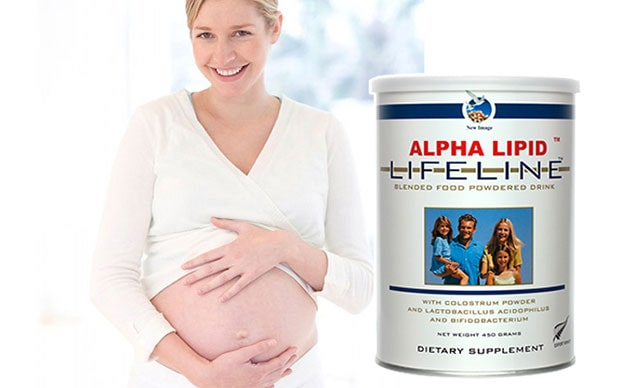 Sua non Alpha Lipid cho ba bau