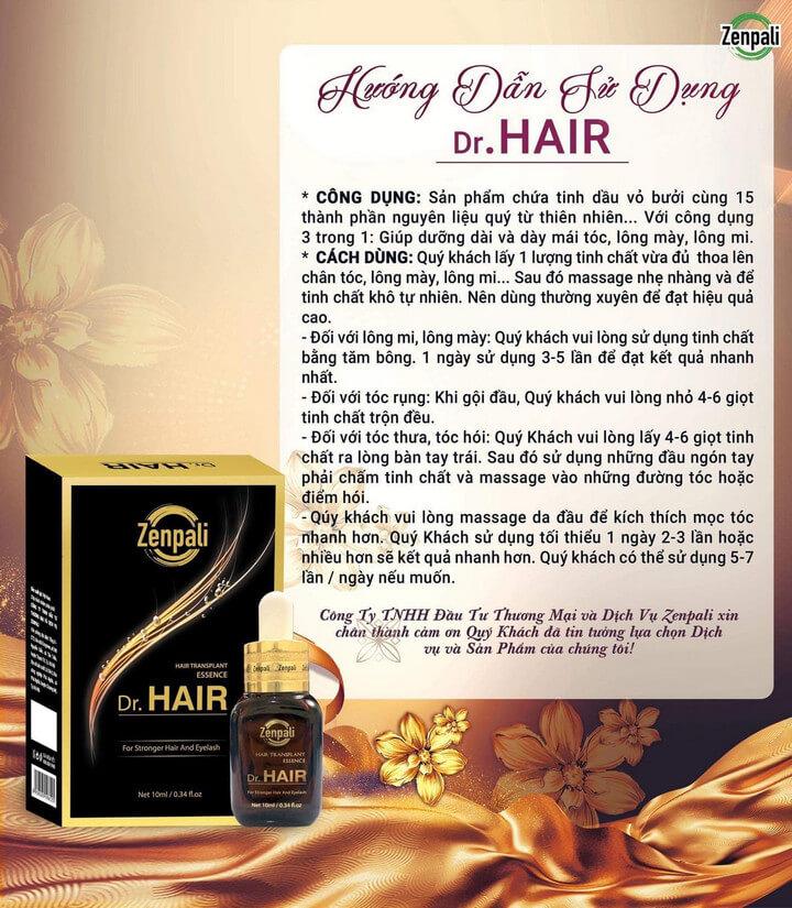 Công dụng của Dr Hair Zenpali
